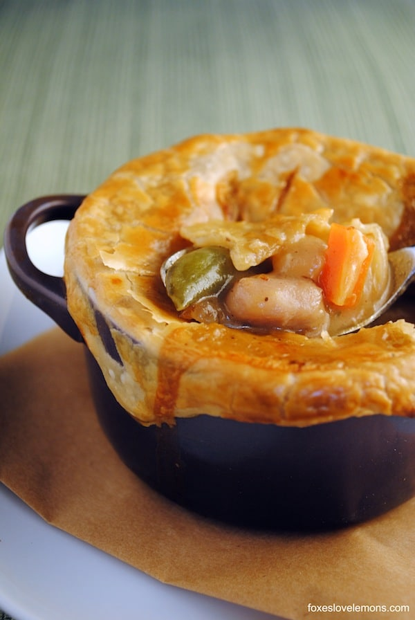 Classic Chicken Pot Pie - Comfort food at it's finest, easily customizable for your family's tastes!   foxeslovelemons.com