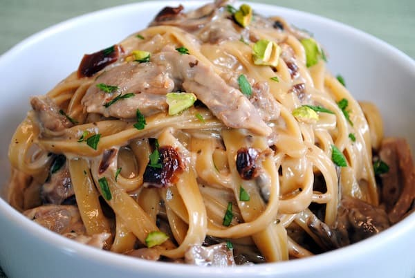 Tea-Smoked Duck Fettuccine - A decadent, restaurant-quality pasta made at home! | foxeslovelemons.com