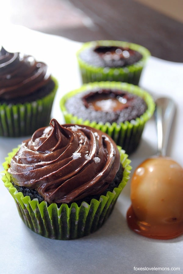 "Chocolate Salted Caramel Cupcakes from ""Martha Stewart's Cupcakes"" 