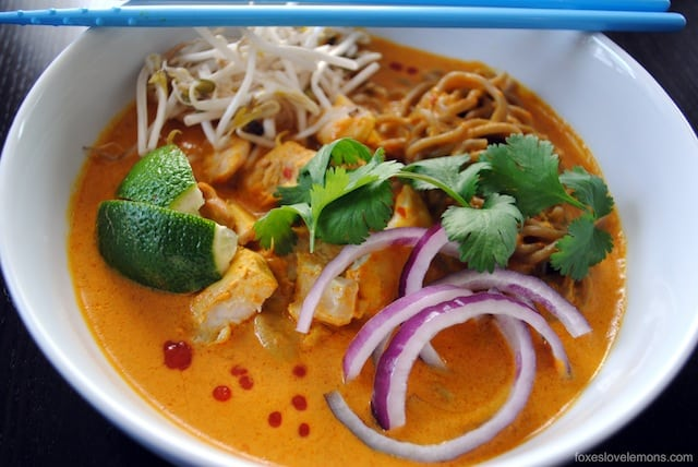 Thai Curry Chicken Noodle Soup - surprisingly easy to make, and huge ...