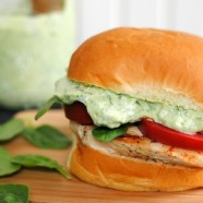 Green Goddess Chicken Sandwiches – healthy and delicious, with a creamy sauce made with Greek yogurt and tons of herbs.