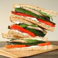 Grilled Vegetable Sandwiches with Herbed Goat Cheese5-001