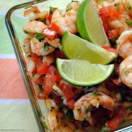 Shrimp Ceviche - A spicy, tangy, fresh appetizer or side dish.