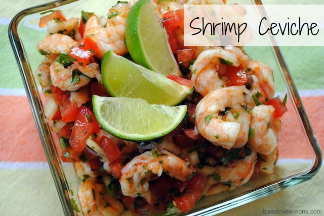 Shrimp Ceviche - A spicy, tangy, fresh appetizer or side dish ...