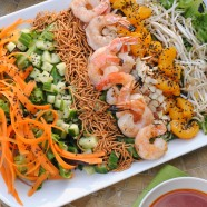 Asian Shrimp Salad with Gochujang Dressing – a cold, crunchy, refreshing salad for a warm day.