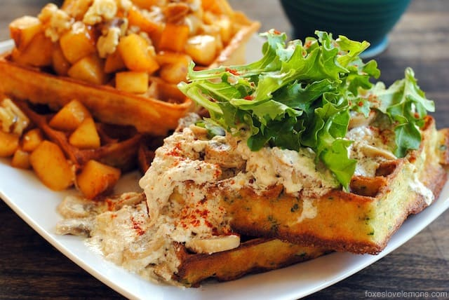 Sweet + Savory Waffles: Savory Herbed Waffles with Roasted Chicken ...