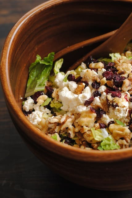 Cranberry-Walnut Salad with Feta & Apples - this is a salad everybody seems to like! | foxeslovelemons.com