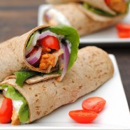 Tandoori Chicken Wraps – tandoori-marinated chicken wrapped up with a Greek yogurt-cilantro sauce.