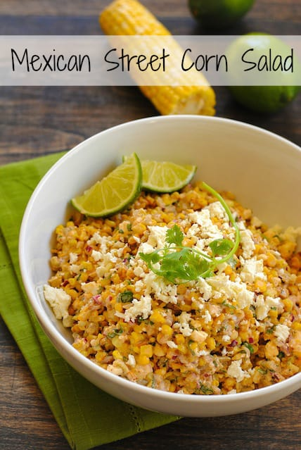 Roasted Mexican Street Corn Salad - A crunchy and spicy salad