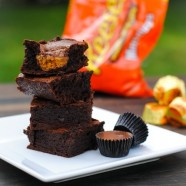 Peanut Butter Cup Blender Brownies – deeply chocolate brownies with a peanut butter cup inside, whipped up in a blender!