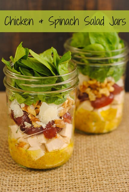 http://foxeslovelemons.com/chicken-spinach-salad-jars/