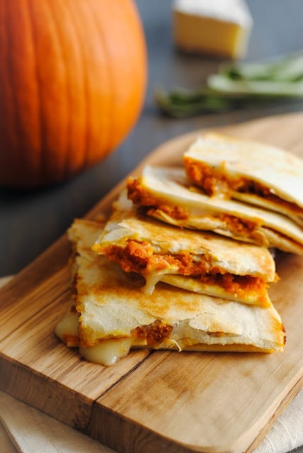 Pumpkin-Brie Quesadillas - a melty, cheesy fall treat ...