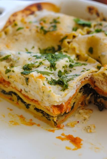Pumpkin & Kale Lasagna - A hearty dish filled with fall flavors like ...