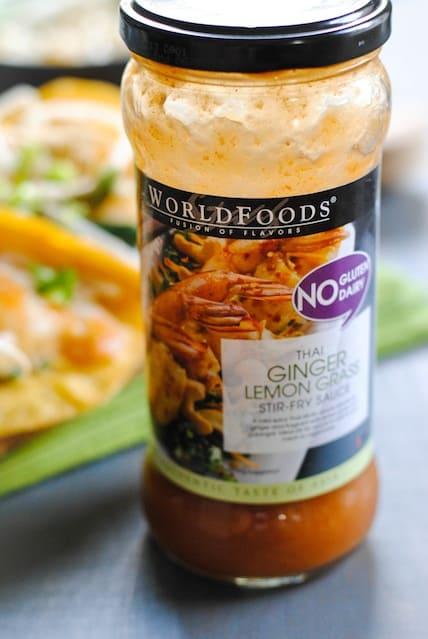 Thai Ginger-Lemongrass Shrimp Tacos - a quick and healthy Asian-inspired meal. | foxeslovelemons.com