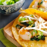 Thai Ginger-Lemongrass Shrimp Tacos - a quick and healthy Asian-inspired meal.
