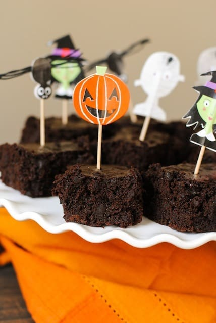 """Trick or Beet"" Brownies - delicious chocolaty brownies that use beets in place of some of the oil. Nobody will notice a difference in the flavor of these healthier brownies! 