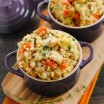 Slow-Cooker Barley and Chickpea Risotto - a big bowl of whole grains packed with chickpeas, cauliflower and vegetables. Your slow cooker does all the work for you! | foxeslovelemons.com