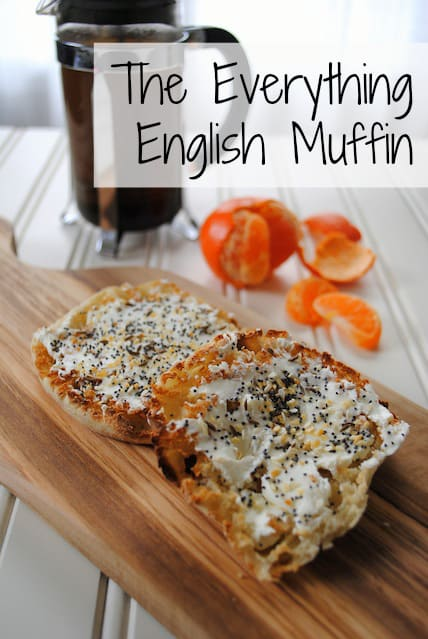The Everything English Muffin: tastes exactly like an everything bagel, with just 1/3 of the calories!! | foxeslovelemons.com