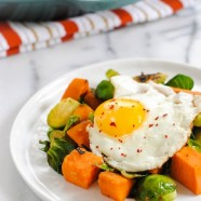Sweet Potato & Brussels Hash - Put an egg on it!