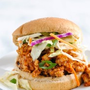 Asian-Style Chicken Sloppy Joes - Healthy sloppy joes inspired by moo shu chicken from a Chinese carryout! | foxeslovelemons.com