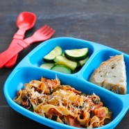 Loaded Pizza Egg Noodles - A veggie-filled meal the whole family can enjoy, and feel good about eating