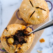 Short Rib Pot Pie - Luscious short ribs glazed with red wine and topped with flaky pastry.
