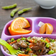 Orange Beef & Veggie Stir-Fry - Kid-friendly takeout fake-out at home! | foxeslovelemons.com