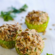 Savory Sunflower Seed Muffins - Healthy buttermilk muffins flavored with ranch spices, cheese and sunflower seeds. The perfect addition to a family dinner!