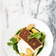 Seared Chilean Sea Bass with Potatoes & Herb Sauce - Make a beautiful, healthy restaurant-quality dish at home in 17 minutes.