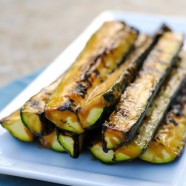Miso-Glazed Grilled Zucchini - Use this 2 minute, 4 ingredient miso glaze on anything grilled this summer! | foxeslovelemons.com