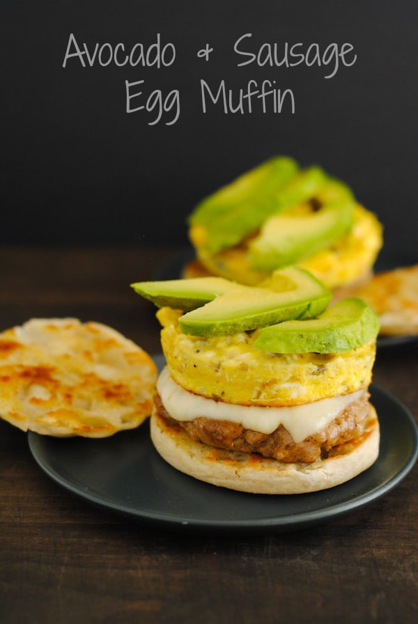 Avocado & Sausage Egg Muffin - An at-home breakfast that blows away the competition at the drive-through! | foxeslovelemons.com