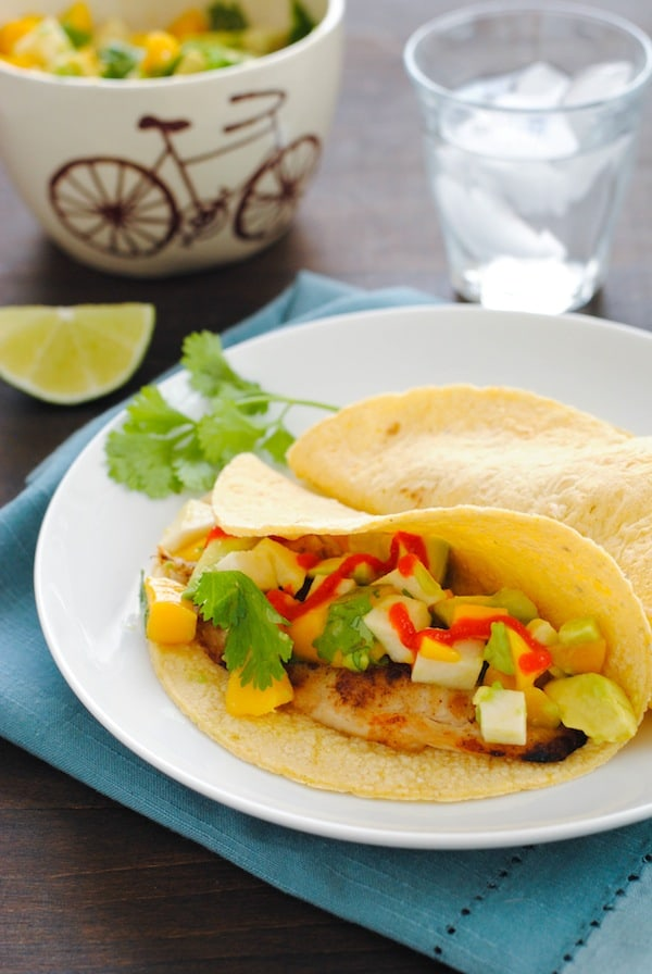 Grilled Fish Tacos with Summer Salsa - Foxes Love Lemons