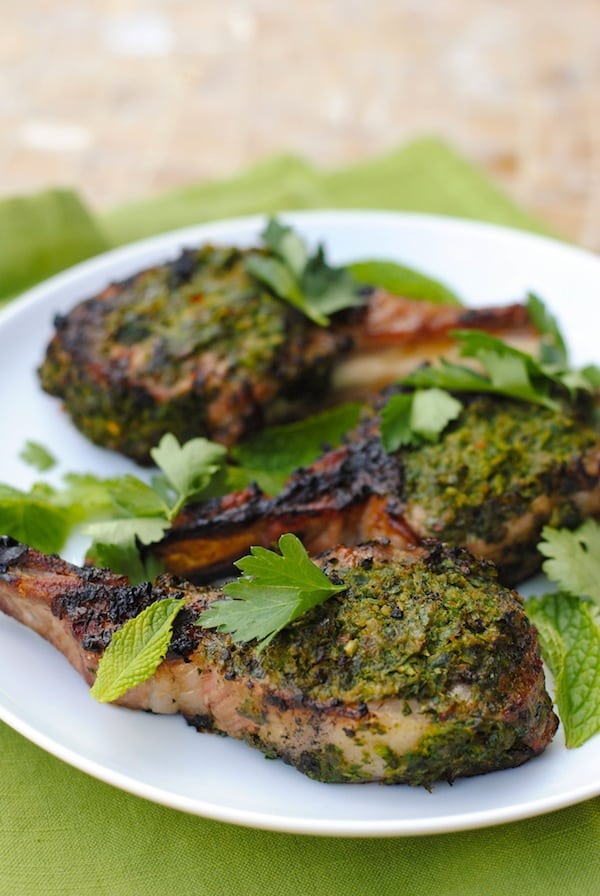Herb-Crusted Grilled Lamb Chops - Foxes Love Lemons