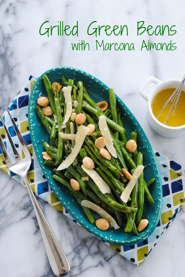 Grilled Green Beans with Marcona Almonds - Part salad, part side dish ...