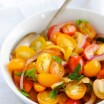 Tomato & Roasted Lemon Salad - A vibrant and fresh summer salad adapted from Ottolengi. | foxeslovelemons.com