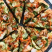 Very Teriyaki Turkey Pizza - Leftover turkey, colorful veggies & teriyaki sauce come together to make this unique pizza! | foxeslovelemons.com